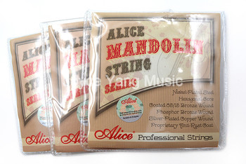 3 Sets Alice AM08 Mandolin Strings Plated Steel&Silver-Plated Copper Wound Strings 1st-4th 010-034 Free Shipping Wholesales фото