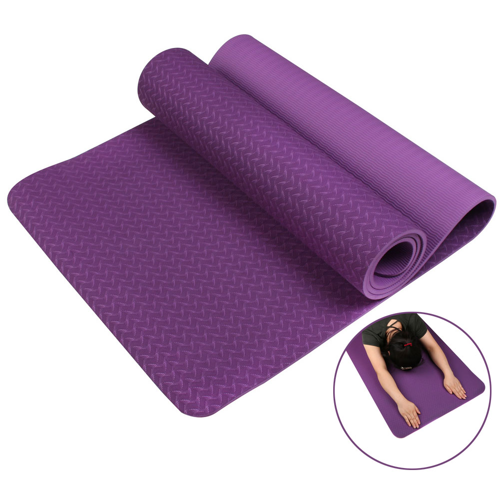 Ship From Ru No-slip Yoga Mat 6mm TPE Sport Yoga Mat Fitness Pilates Gymnastics Widening Thickening Pad ALS88 ship from RU chastep natural pvc yoga mat anti slip sweat absorption 183 61cm 6mm yoga pad fitness gym pilates sports exercise pad yoga mats