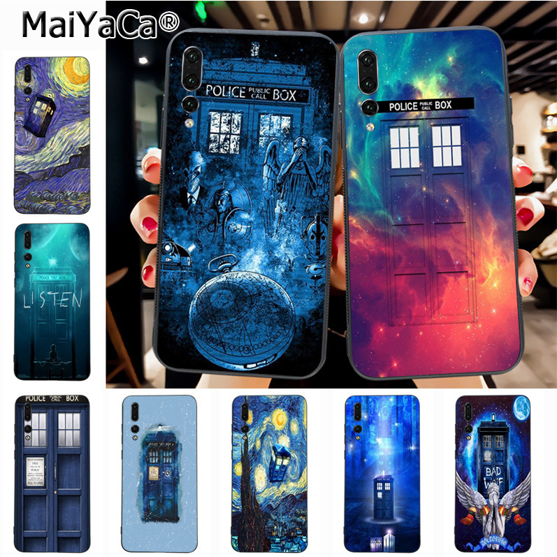 Half-wrapped Case Phone Bags & Cases Impartial Maiyaca Tardis Box Doctor Who Luxury High-end Phone Accessories Case For Huawei Honor 9 Honor 10 P20 Case Coque Comfortable And Easy To Wear