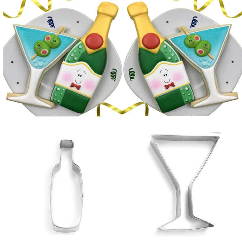 US SELLER!! Wine Bottle cookie and fondant cutter