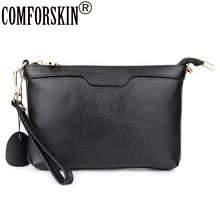 COMFORSKIN Premium Cowhide Women Messenger Bag New Arrivals European And American Fashion Ladies Cross-body Bags Bolsas Feminina