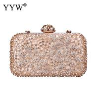 Evening Clutch Bags for Women 2018 Diamond Rhinestone Clutch Crystal Day Clutch Wallet Wedding Purse Party Banquet Gold