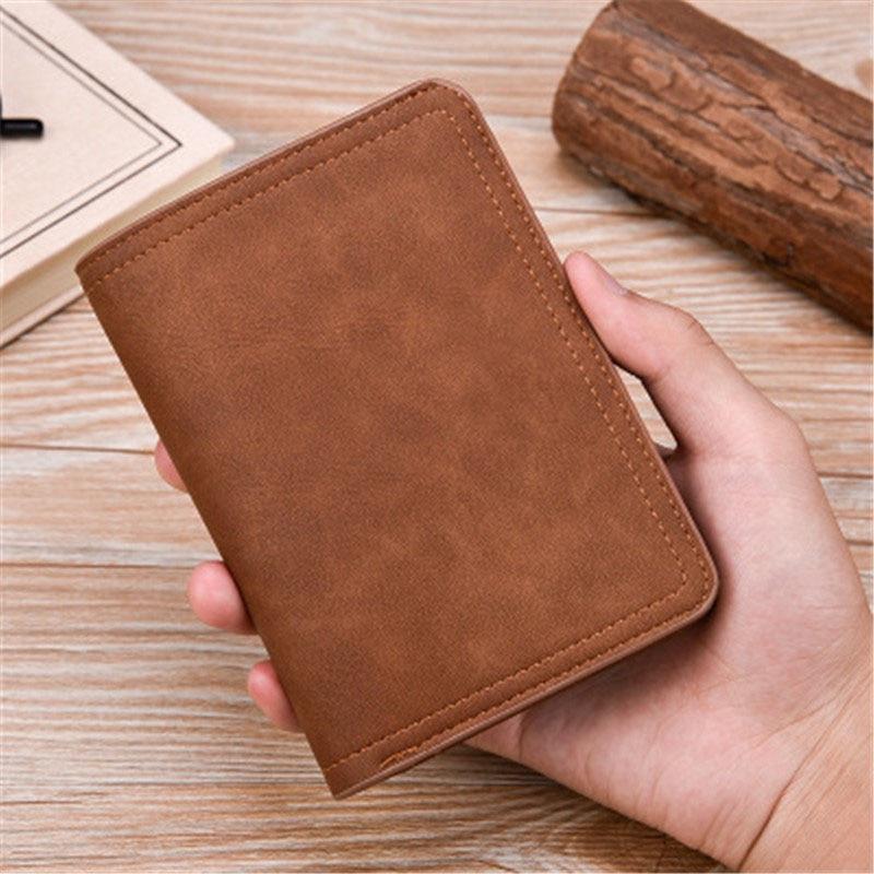 Ny Zipper plånbok retro frostat läder mäns plånbok Hög kvalitet - Plånböcker - Foto 5