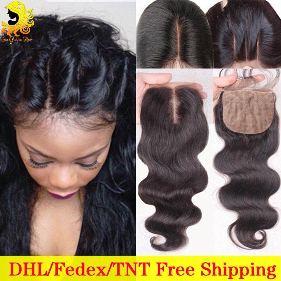 Cheap Brazilian Silk Base Closure Body Wave Human Hair