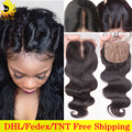 Cheap Brazilian Silk Base Closure Body Wave Human Hair Silk Base Closure With Baby Hair Free Middle 3 Part Silk Top Lace Closure