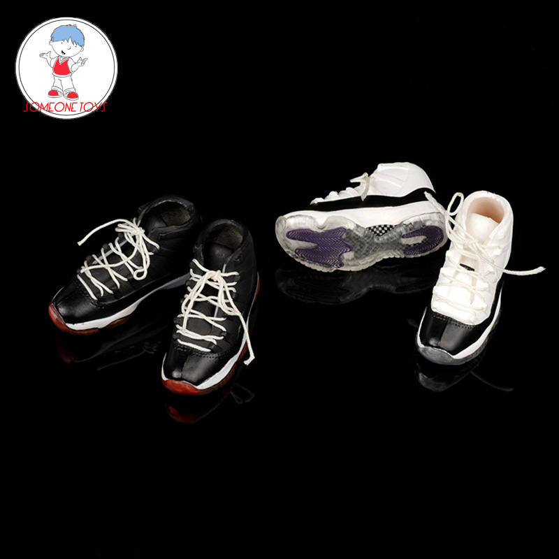 1/6 FG064 Male Sport Shoes Model Basketball Shoes Hollow Inside for 12 Inches Action Figures