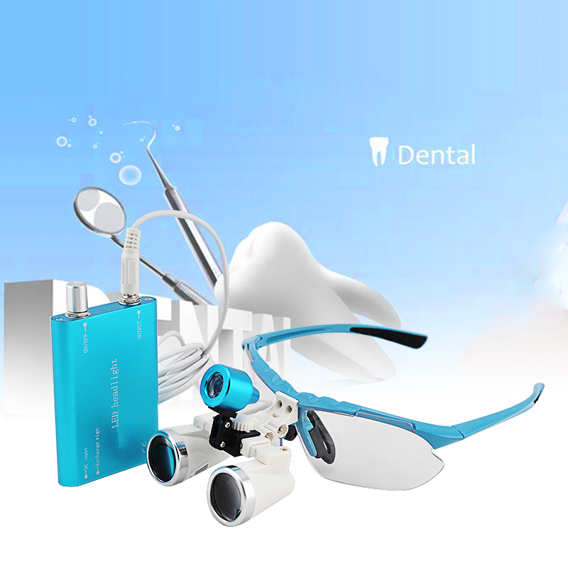 Silver magnifying glass 3.5X320mm Medical Surgical loupes Dental Loupes head loupes with LED light magnifier ultra light 3 5x medical magnifying glass surgical loupes dental loupes medical loupes with led light fd 503 g 1