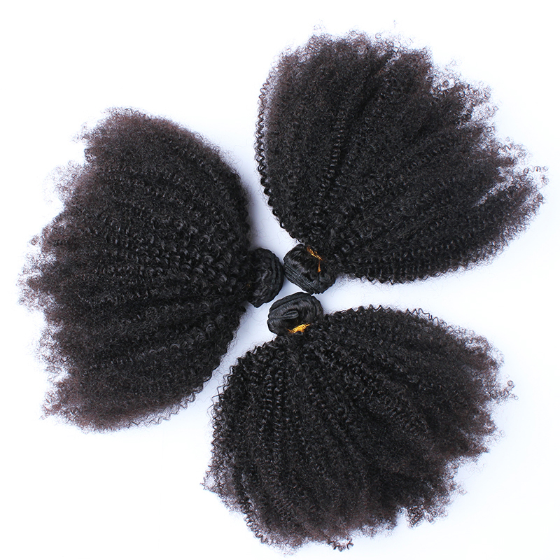 Mongolian Afro Kinky Curly Hair Weave 4B 4C Natural Black Raw Remy Human Hair Bundles Extension 3 Hair Products Venvee 10-26