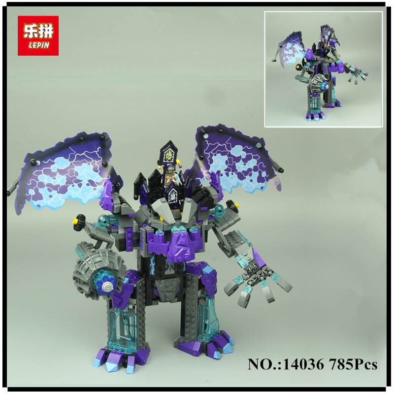 IN-STOCK LEPIN 14036 785PCS Nexoe The Stone Colossus of Ultimate Nexus Destruction  Knights Building Blocks Bricks Toys For Kids 785pcs knight stone colossus of ultimate destruction model building blocks 14036 assemble bricks toys nexus compatible with lego