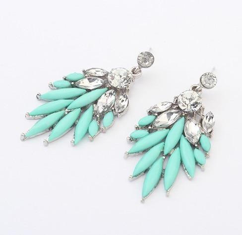 Europa estilo Vintage 2014 na moda mulheres encantos brincos de cristal Piercing Dangle jóias presente do partido