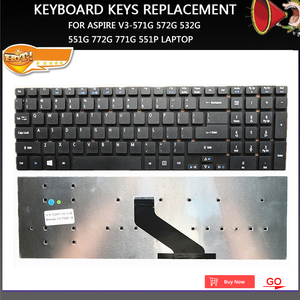 New keyboard keys replacement For Aspire V3-571G 572G 532G 551G 772G 771G 551P laptop Keyboards