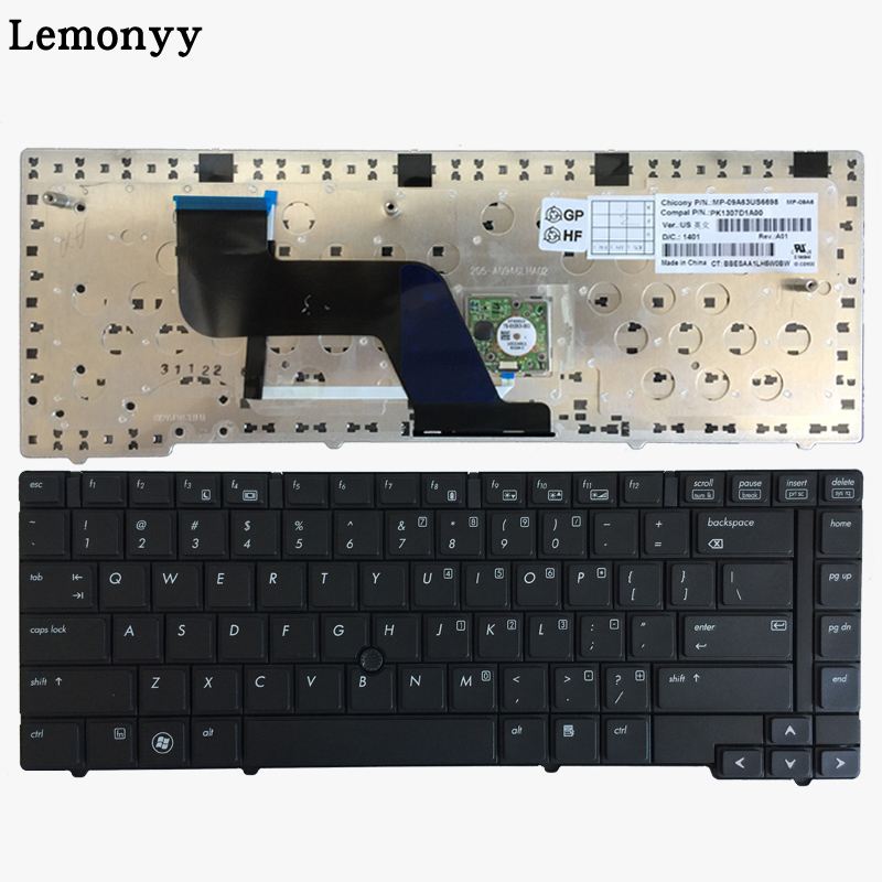 English keyboard For HP Elitebook 8440P 8440W 8440 US Laptop keyboard black With Point stick gzeele hot selling english keyboard for hp elitebook 8440p 8440w 8440 us laptop keyboard black without point stick