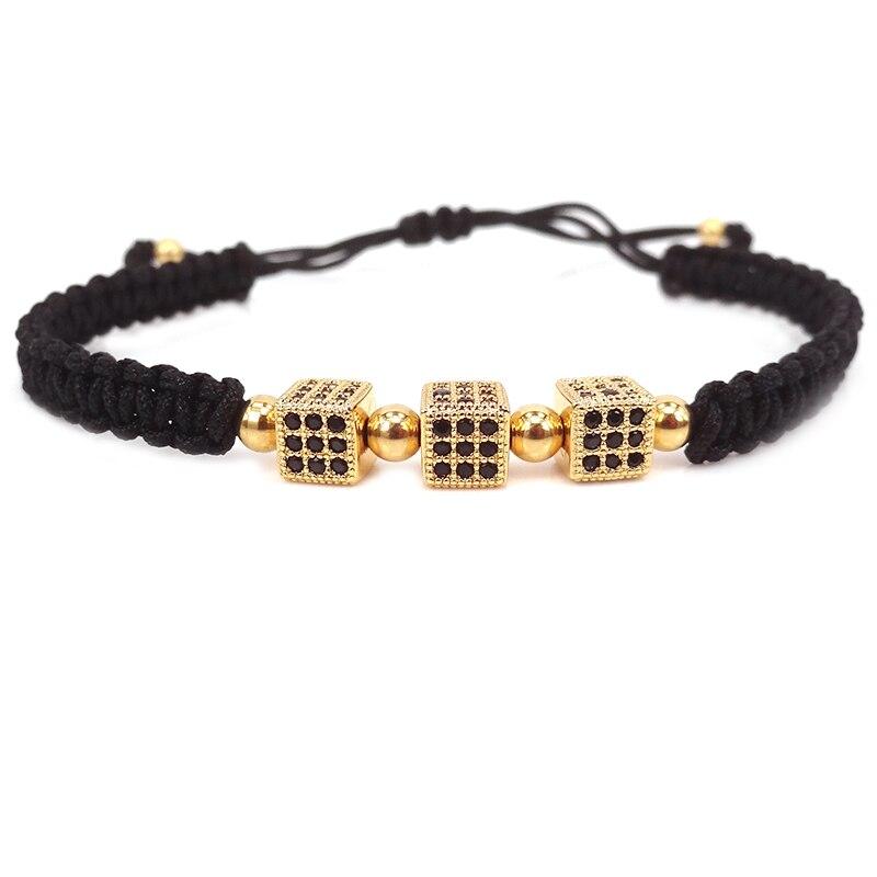 2017 New Fashion Black Men Bracelets Cube Jewelry Bracelet Women For Macrame Bangles In Wrap From