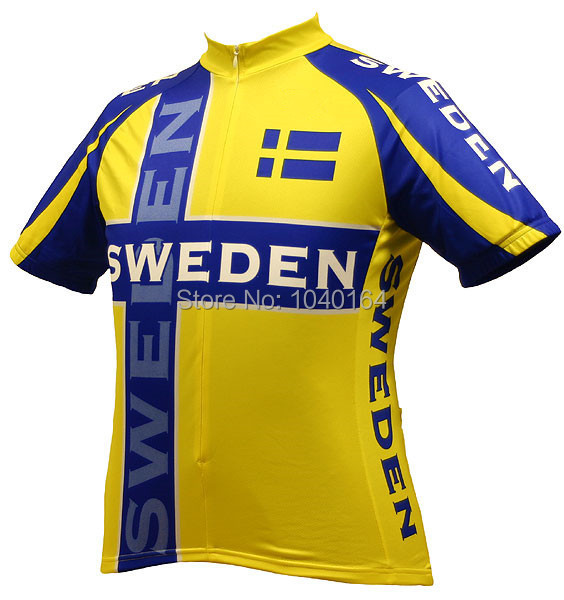 02e0a830a Sweden World Team Men Cycling Jerseys short sleeve ropa ciclismo maillot  ciclismo breathable Bike Bicicleta Cycling Clothing