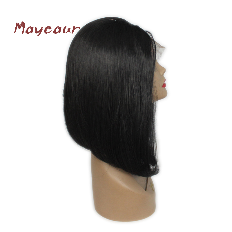Short Cut Bob Wigs Black Straight Fashion Lace Front Wig Silky Smooth Synthetic Hair Wigs