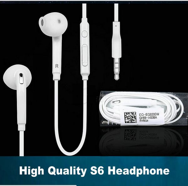 Top quality S 6 S6 earphone Inear earbud for Samsung galaxy S 3 4 5 6 S6 S5 S4 S3 Note 3 4 Note3 Note4 i9500 i9600 i9800 кабель для мобильных телефонов for samsung s4 s5 s6 note 3 4 usb samsung s4 s5 s6 3 4 for samsung android universal