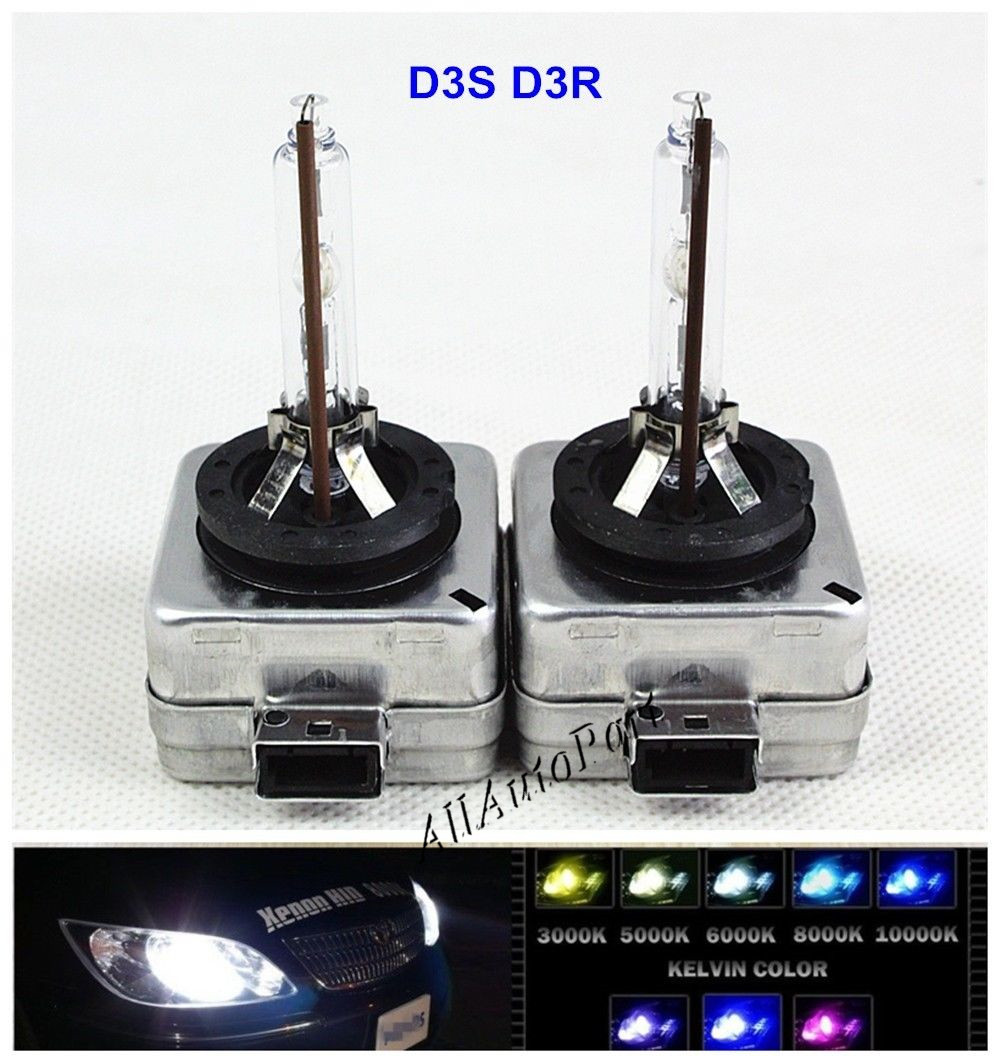 1 Pair HID D3S Headlamps Replacement HID d3s Xenon headlight Bulbs 12v 35w lamps hid 4300K 6000K 8000K 10000K