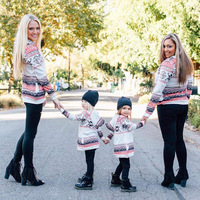 Mother and Kid's sweatersuit, family sweater suit
