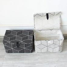 Černá bílá Péče o domácnost Přenosná skříňka Oblečení Organizér Skladovací box Spodní prádlo Podprsenka Balení makeup Kosmetická tkanina Skladovací taška