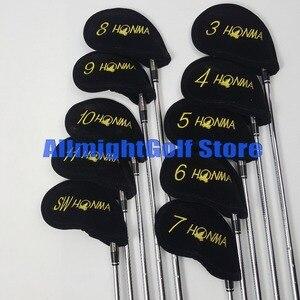 Image 2 - Tacos de golfe HONMA TW737P 3 11.SW Preto ferros De Golfe Ferros clubes Grafite/Aço shaft R/S flex com Barrete