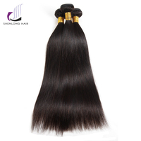ShenLong Hair Peruvian Straight Hair 3 Bundles Remy Hair Bundles 100% Human Hair Bundles Can Buy With Closure Natural Color