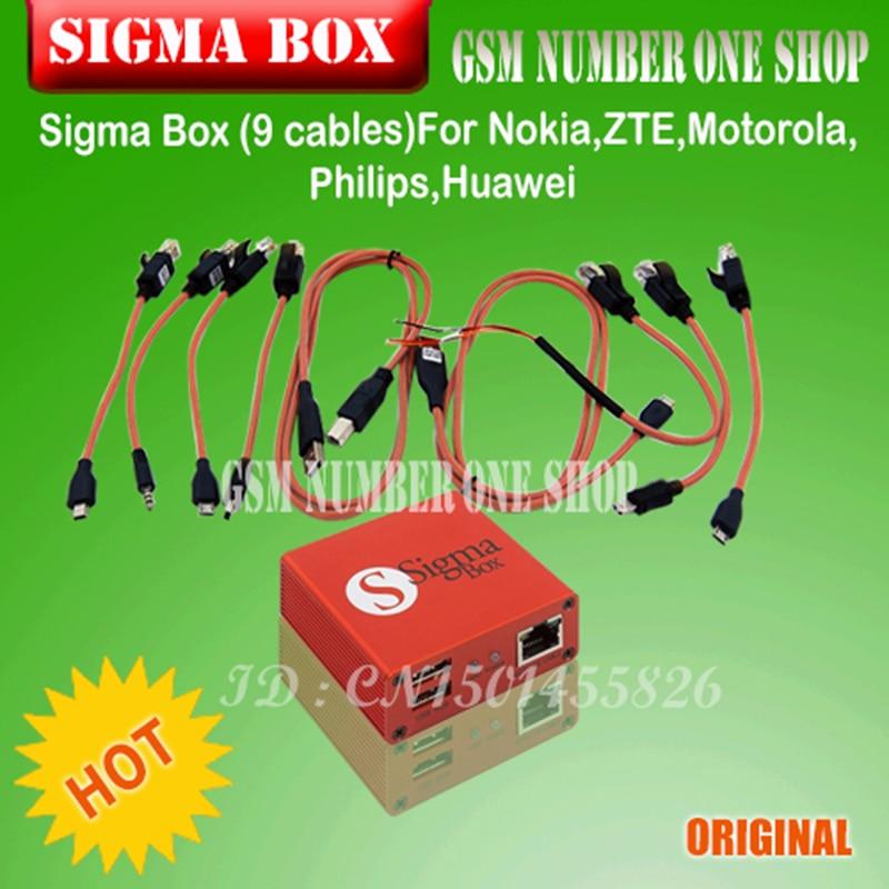Gsmjustoncct Original Sigma Box Sigmabox ensemble complet pour téléphone Mobile déverrouillage & Flash & réparation pour chine téléphone Mobile/Nokia + 9 câble - 5