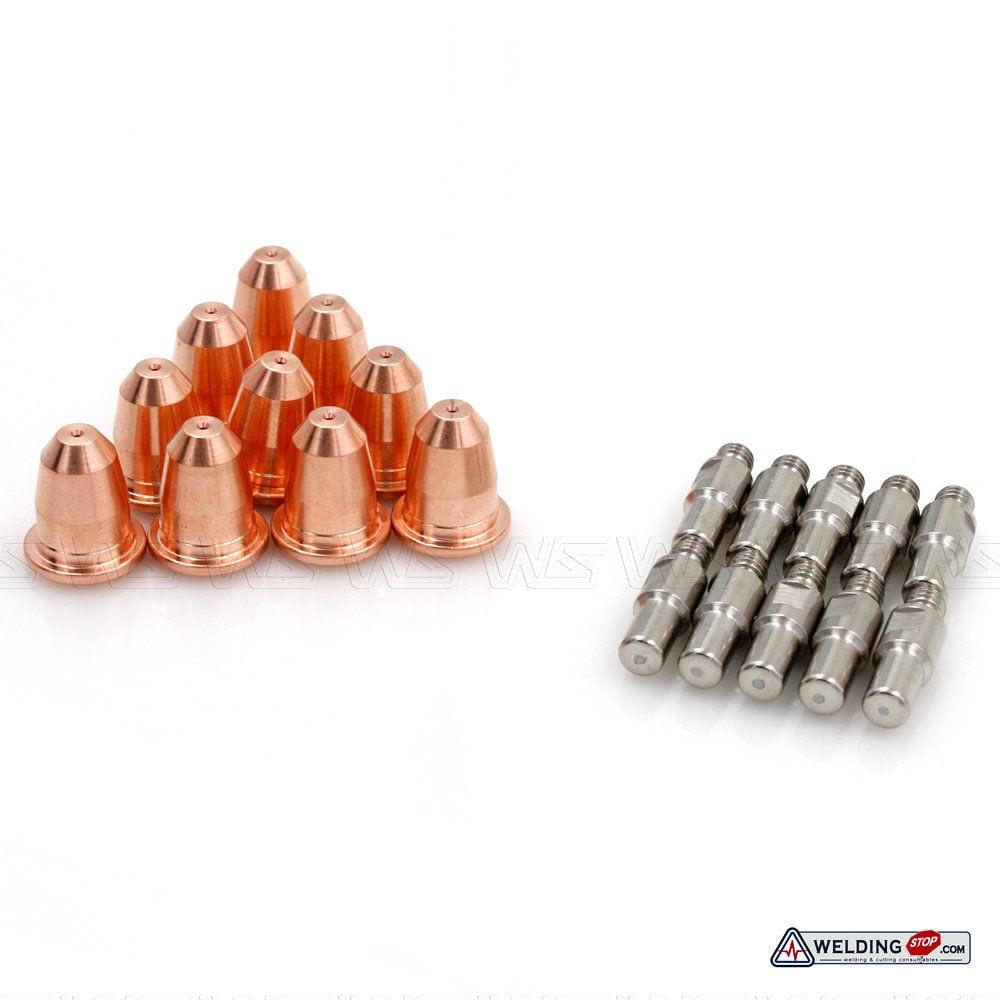 20pcs S45 PT60 IPT-60 PT40 IPT-40 PR0110 Electrodes PD0116 0.8mm Nozzle Tips For Trafimet PLASMA TORCH CONSUMABLES