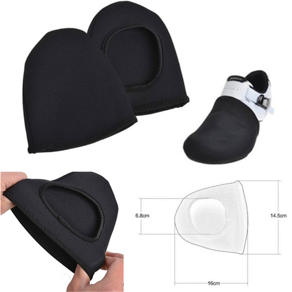 1 Pair Black Outdoor Cycling Bike Bicycle Sport Shoe Toe Cover Protector Overshoes Cycling Equipment