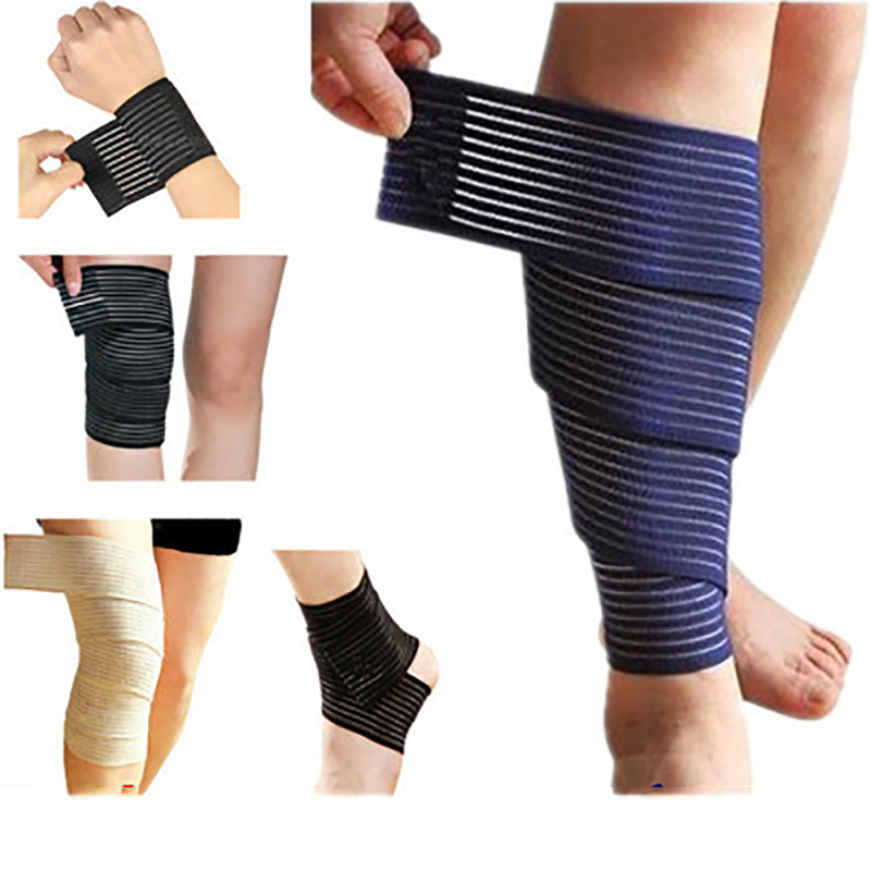 1PCS Elastic Bandage Tape Sport Knee Support Strap Shin Guard Compression Protector for Ankle Leg Wrist Wrap