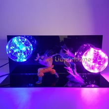Dragon Ball Z Led Lamp Bulb Son Goku Vegeta Super Saiyan Kamehameha Galick Gun Dragon Ball Z Vegeta Goku DBZ Led Lamp Nightlight