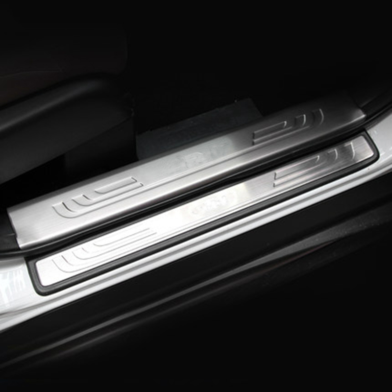 Stainless Steel Internal External Door Sill Scuff Plate Protector Guard Cover Trims Auto Parts 8Pcs For Honda CRV CR-V 2012-2016 for lexus es250 es300 es350 stainless steel door sill scuff plate step protector cover