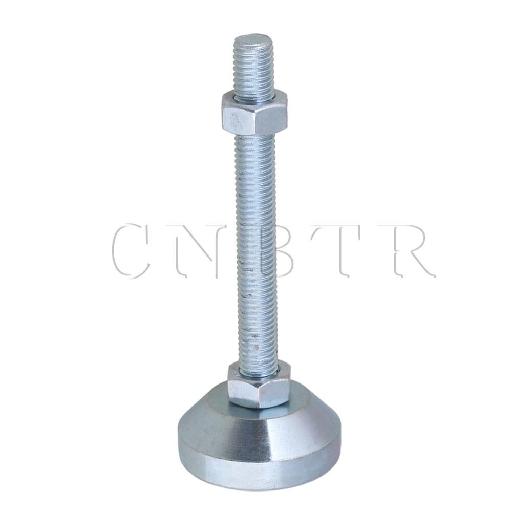CNBTR 50mm Dia M12x100mm Thread Carbon Steel Adjustable Furniture Leveling Feet