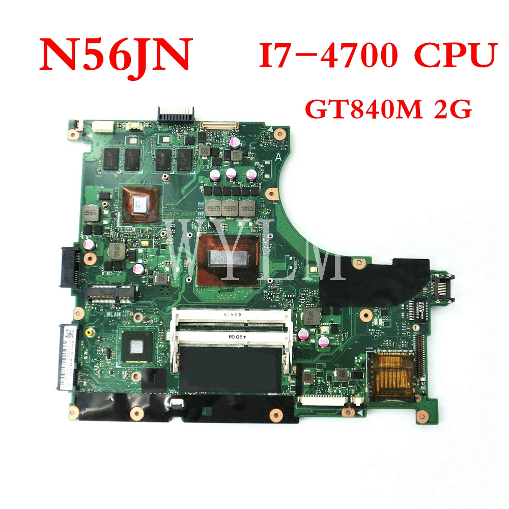 N56JN With I7-4700 CPU GT840M 2G mainboard REV 2.0 For ASUS N56J N56JN Laptop motherboard 60NB04Z0-MB3010-201