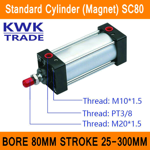 SC80 Standard Air Mini Cylinder Valve Magnet Bore 80mm Strock 25mm to 300mm Stroke Single Rod Double Acting Pneumatic Cylinder безкоровайная г соколова н койранская е лаврик г planet of english английский язык для учреждений спо учебник cd