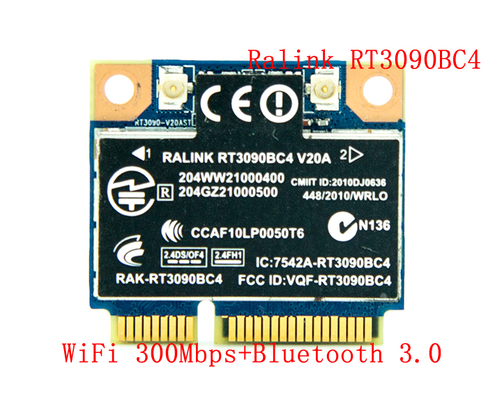 Ralink RT3090BC4 300Mbps PCI-E WiFi Adapter Mini PCI-Express Wireless Combo Adapter With Bluetooth V3.0 BT 3.0 For HP 602992-001