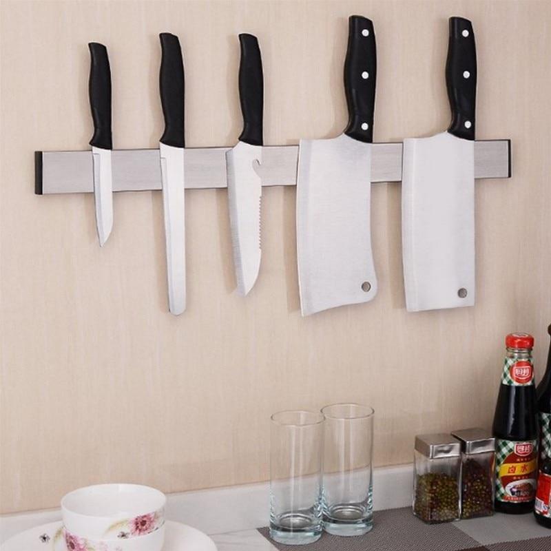 1PCS 3M magnetic High Quality Strong Magnetic Knife Holder Tool Rest Shelf For Kitchen Pub Bar Counter Black Knife Holder