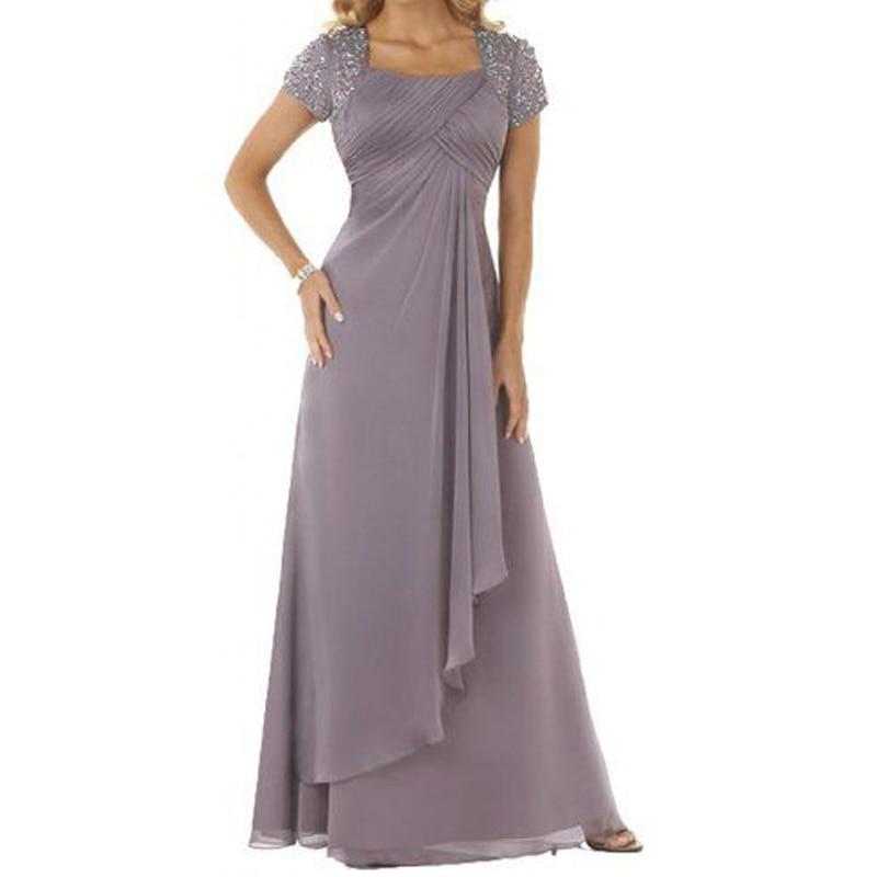 Grande taille 2019 élégante mère de la mariée robes à manches courtes robe pour l'obtention du diplôme mère de la mariée robes pour les mariages