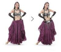 2017 חדש באיכות גבוהה בגדי ריקודי בטן חצאית גדולה חצאית בוהמי ריקודי חצאית ריקוד בסגנון שבטי 12 צבעים ספרדית