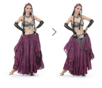 2017 New High Quality Belly Dance Clothes Big Skirt Tribal Style Dance Skirt 12 Colors Spanish