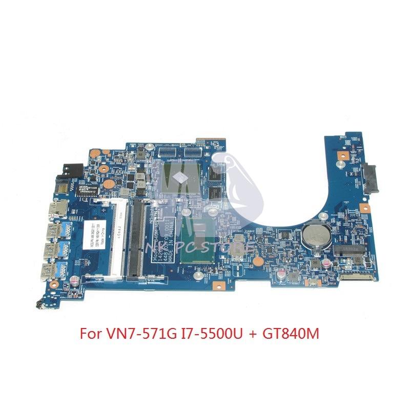 NOKOTION NBMQK11008 NB. MQK11.008 Pour Acer aspire V Nitro VN7-571G mère D'ordinateur Portable I7-5500U CPU GT840M DDR3L