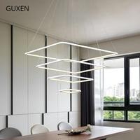 GUXEN современной площади лампа акриловые подвесные светильники белого цвета для столовой 20 см 40 см 60 см 80 см