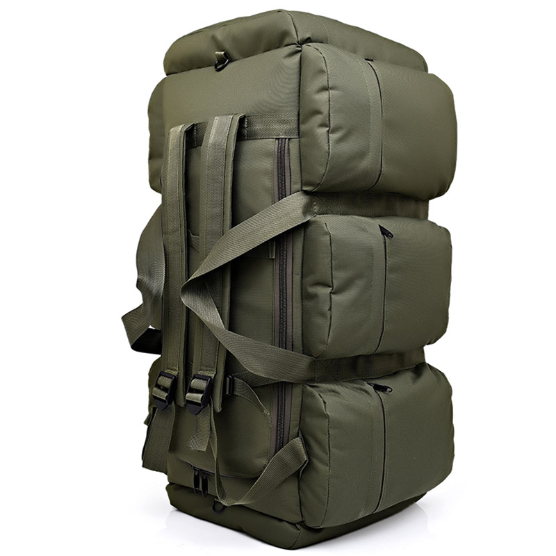 90L Large Capacity Mens Military Tactical Backpack Waterproof Oxford Hiking Camping Backpacks Wear-resisting Travel Bag