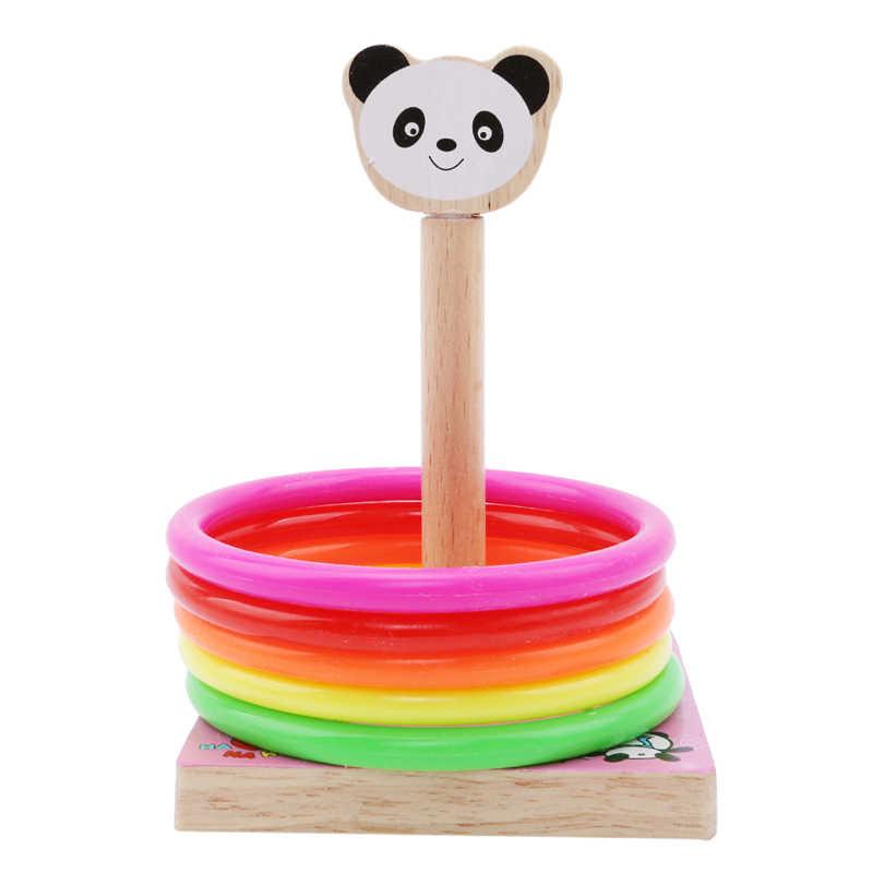 Деревянные игрушки животные метание Кольца Развивающие игрушки для 3 лет Brinquedo развивающие игрушки
