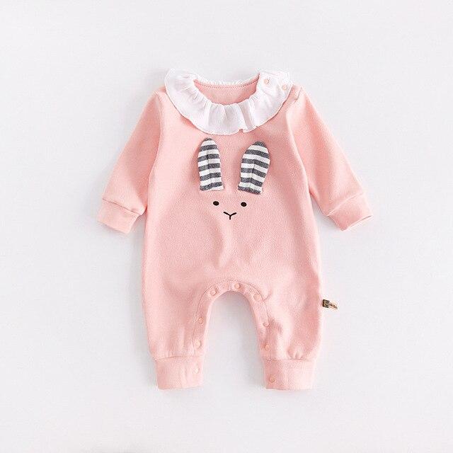 ce1a25d3ca60 2018 Spring Autumn Winter Baby Rompers Cute Rabbit Bear Cartoon Pattern Romper  Cotton Newborn Clothes 3-12 Months