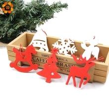 12PCS Gold Sliver DIY Christmas Snowflakes Wooden Pendants Ornaments Kids Gift Christmas Party Xmas Tree Ornaments