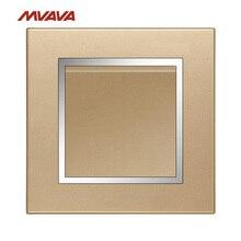 MVAVA 1 Gang 1/2 Way Light Control Switch Wall Decorative Wall Push Button Luxury Chromed Champagne Gold PC Panel Free Shipping