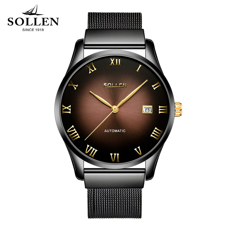 zegarki meskie Classic Mechanical Men Watches Waterproof Stainless Steel clock Brand Luxury Calendar date Watch Men reloj hombre