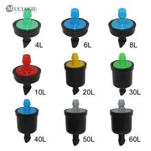 10PCS 4/6/8/10/20/30/40/50/60L Pressure Compensating Emitter Self Cleaning Drip Irrigation Water Regulator Mini Inline Emitter