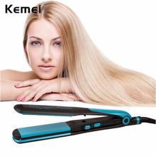 KeMei 2 IN 1 Ceramic Tourmaline Corn Plate Straightening Irons Professional Styling Tool Curling Iron Hair Styler Hairdressing