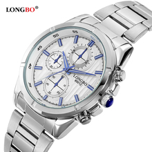 LONGBO Brand New Luxury Stainless Steel Fashion Watch Men Casual Business Quartz Watch Men Popular High-quality Elegant Clock